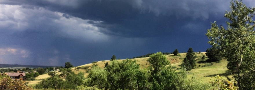 thunderstorm, summer, ominous sky, clouds, sunshine, boulder, colorado
