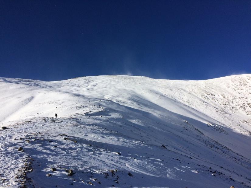 alpine start, hiking, mountain, winter, snowy peak, colorado, fourteener, mountaineering, grays peak,