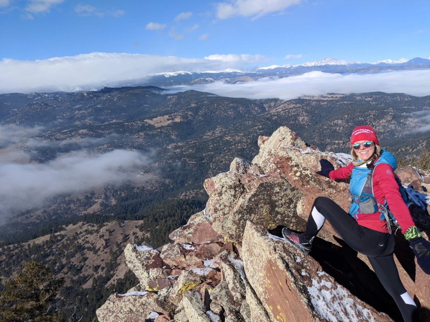 mountains, mountain summit, woman on mountain, trail runner, mountain runner, athletic woman, mountain top
