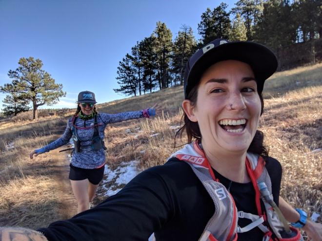 trail running, running, women running, runners, having fun, women runners, women running on trails, wilderness badass, rad girls