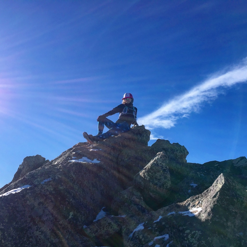 woman on mountain, glamour shot, summit, peak, woman posing on top of mountain, colorado woman on mountain