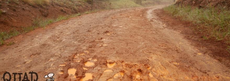 muddy trail, quad rock, trail race, trail running, ultra running, misty, foggy trail