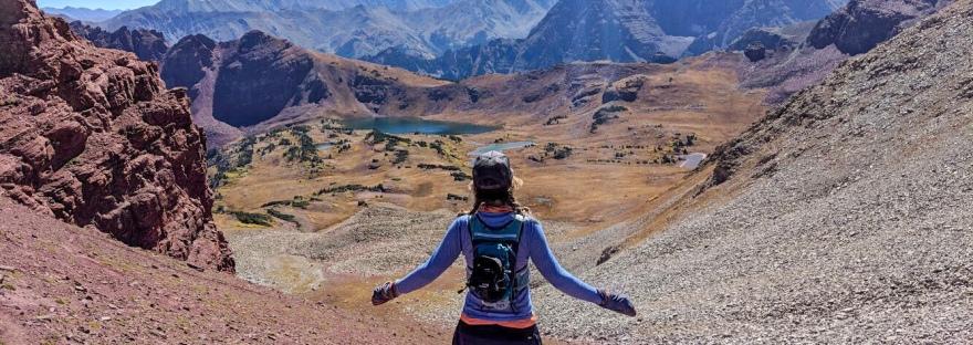 choose mountains, east snowmass pass, maroon bells wilderness, aspen, snowmass, summit, trail running, mountain running
